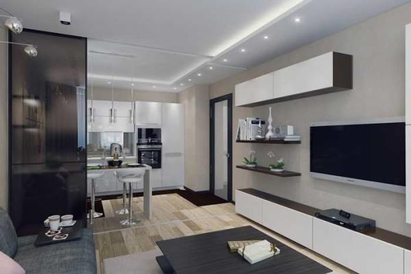 Концепция объединенного пространства очень широко используется профессиональными дизайнерами