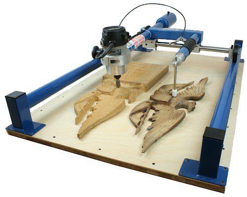 Копировальный станок обладает устройством для сканирования деталей