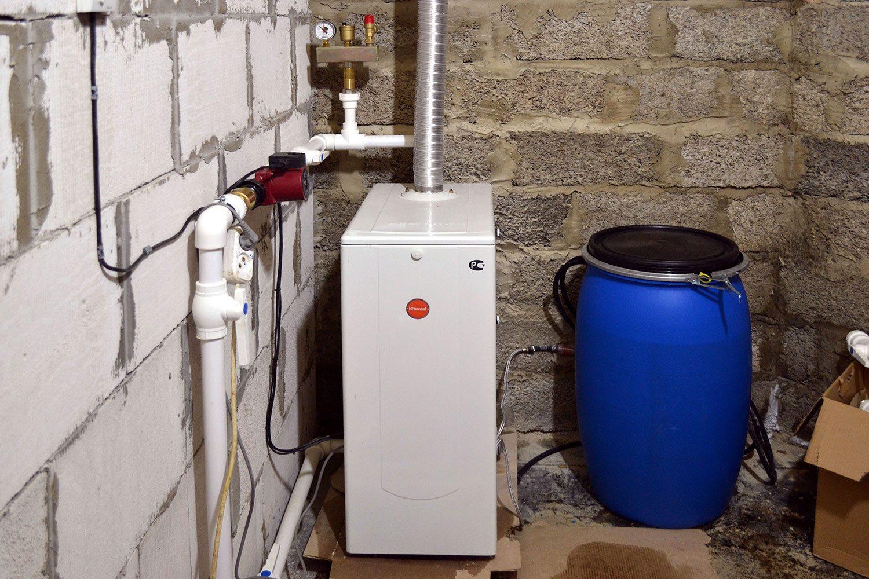 Котел с дизельным топливом займет часть площади котельной.