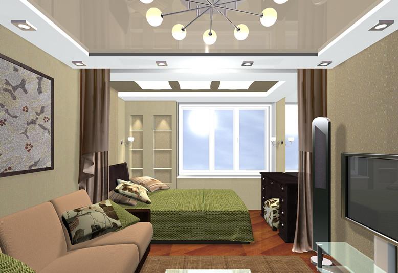 Кровать отлично вписывается в габаритные помещения