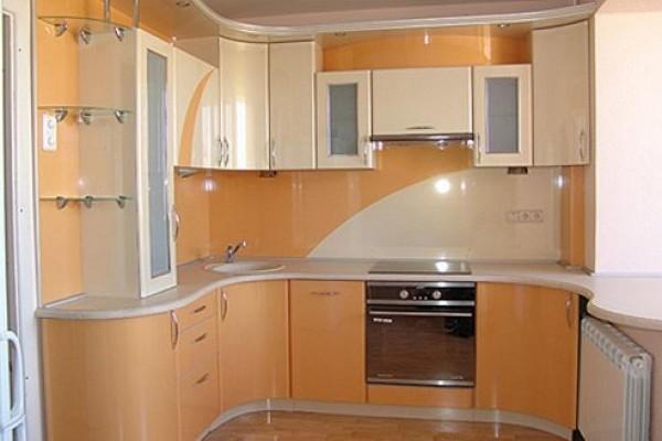 Кухонный гарнитур под цвет стен