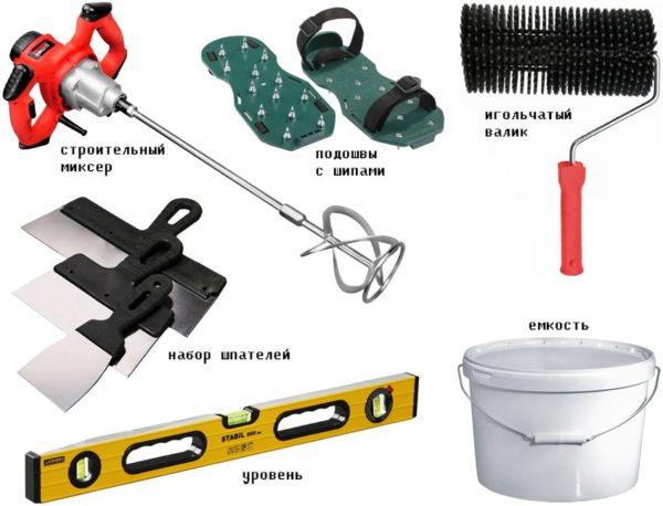 Минимальный перечень инструментов для работы с полимерными наливными смесями