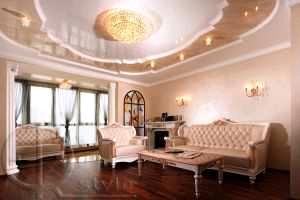 Многоуровневый потолок из гипсокартона