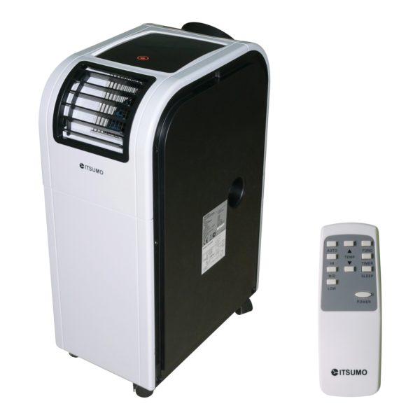 Мобильный кондиционер: моноблок с отводом отработанного воздуха за пределы помещения.