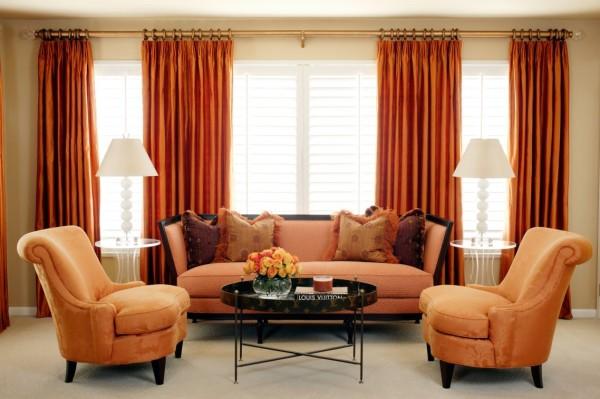 Монохромная цветовая палитра в дизайне гостиной