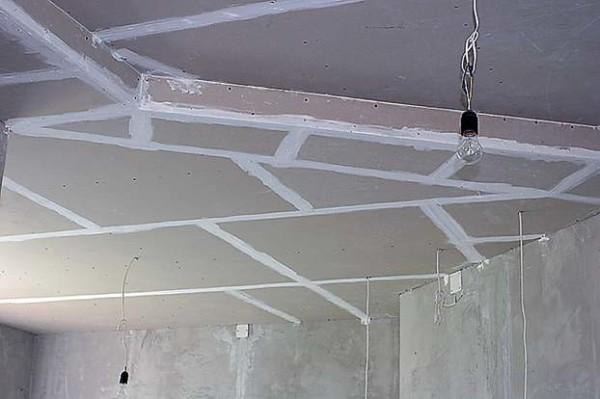 Монтаж двухуровневой конструкции из гипсокартона