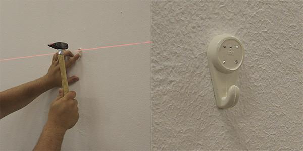 Монтаж крючка с помощью рассматриваемого оборудования