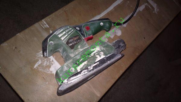 """Мой инструмент для шлифовки гипсокартона — вибрационная шлифмашинка """"Протон"""" стоимостью чуть больше тысячи рублей."""