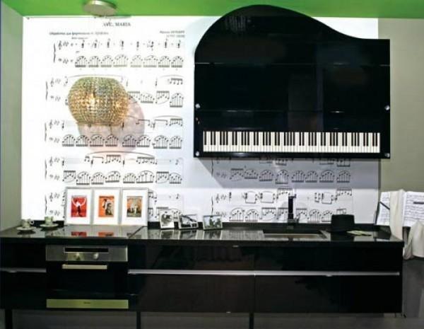 Музыкальная тема в оформлении кухни