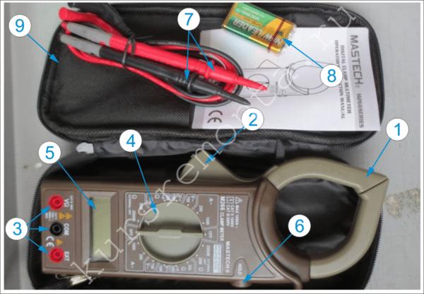 На фото показаны органы управления и комплектация прибора, а подробная расшифровка цифровых сносок описана ниже.