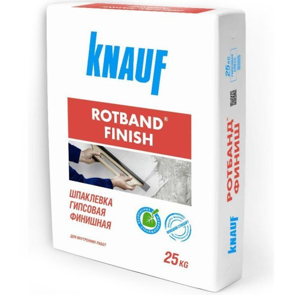 На фото Rotband finish — современная финишная шпаклевка с улучшенными характеристиками