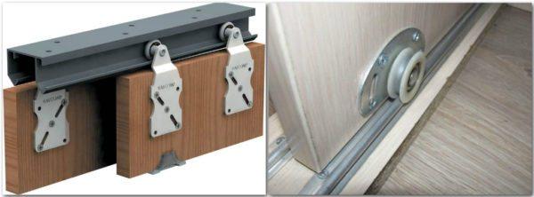 На фото верхний роликовый узел (слева) и нижний узел (справа)