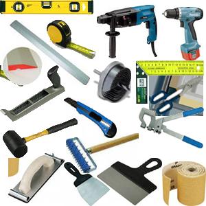 Набор инструмента для работы с гипсокартонными системами