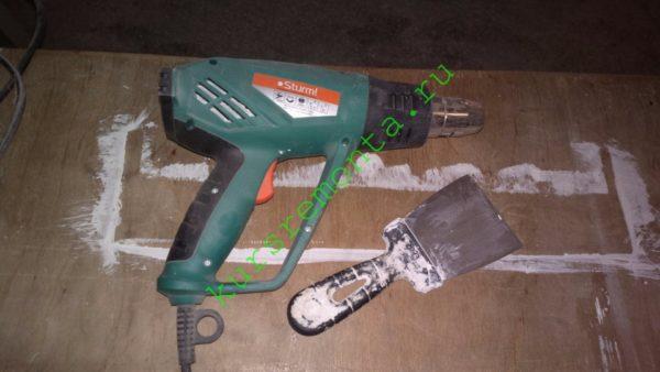 Набор инструмента для зачистки старой краски.