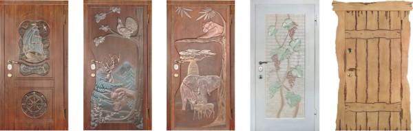 Накладки на двери из МДФ могут обладать самой неожиданной и вместе с тем красивой внешностью
