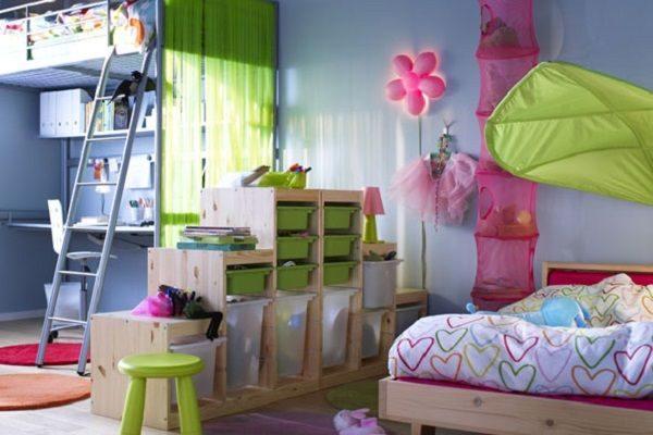 Наличие тематических зон в детской дисциплинирует ребёнка