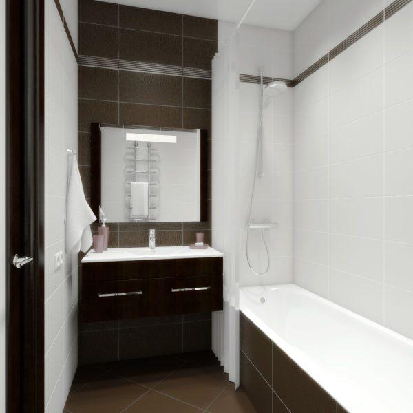 Наша задача — превратить маленькую и непривлекательную ванную в просторную и красивую.