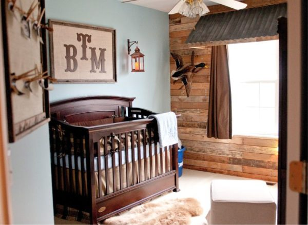 Натуральных материалов немало, вы всегда сможете подобрать свой вариант для кантри, даже если речь идет о детской комнате