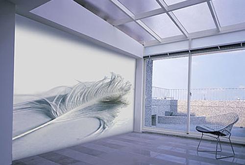 Натяжная виниловая стена