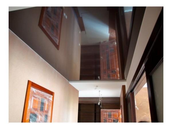 Натяжной потолок, в него можно смотреться, как в зеркало.