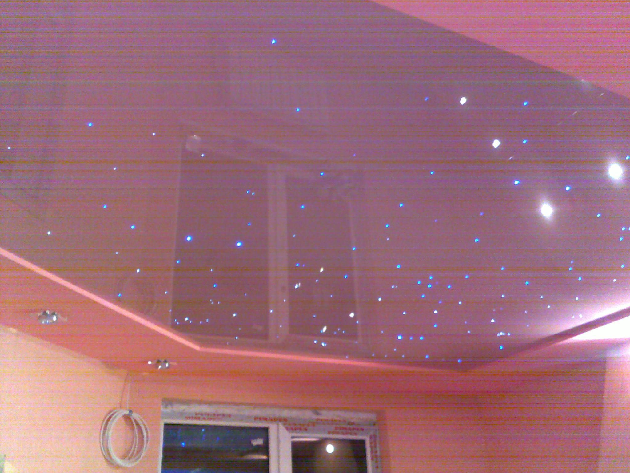 Натяжные потолки «Звездное небо» в низкой квартире