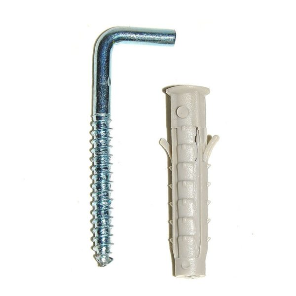 Недорогой и надежный подвесной крюк с пластиковым дюбелем, способный выдержать бойлер.