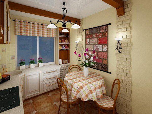 Обстановка станет более домашней если текстиль будет перекликаться с цветом стен.