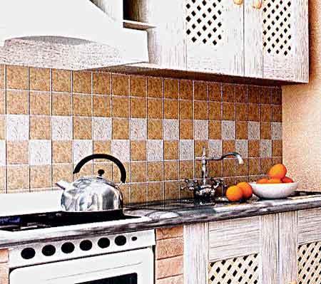 оформление фартука на кухне