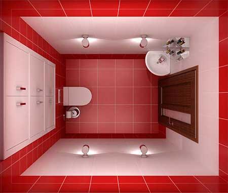 Оформление компактного туалета.