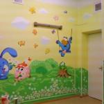 Оформление стен детской комнаты