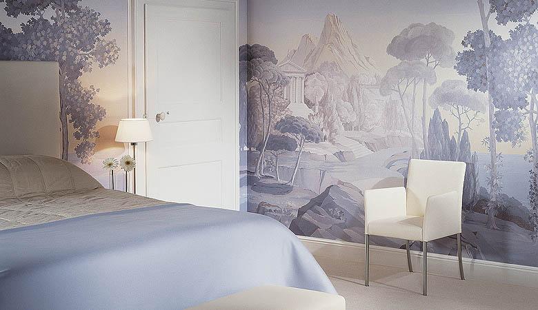 Дизайн стен спальни