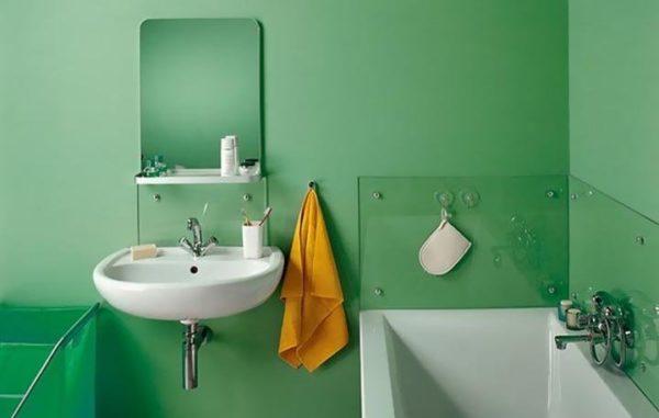 Окрашенные стены в ванной могут иметь любой цвет или оттенок на ваш вкус