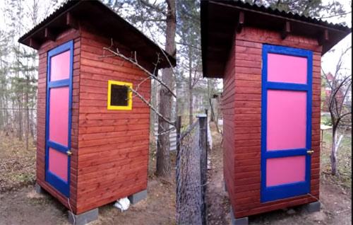 Окрашивание позволяет придать строению более привлекательный вид