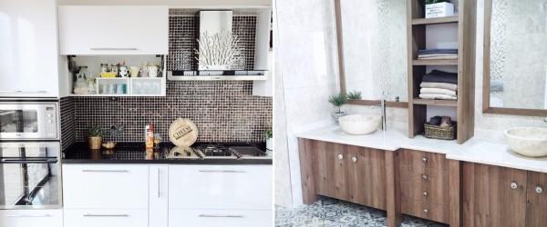 Основной цвет кухни и ванной – белый
