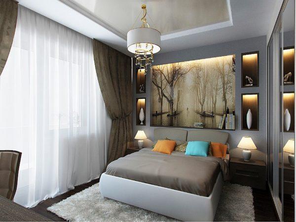Панно с природными мотивами лучше всего подходит для маленьких комнат.