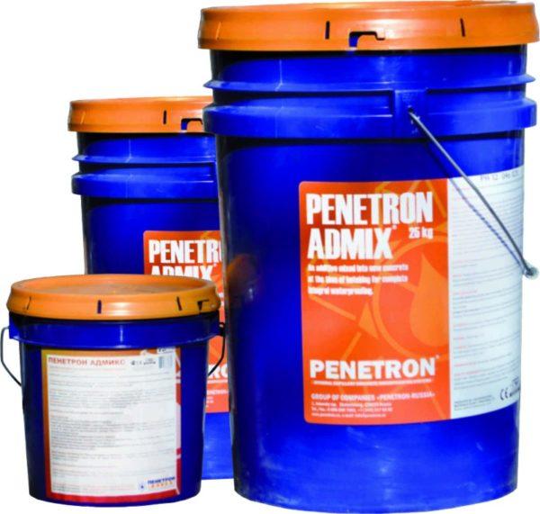 Пенетрон Адмикс — специальная добавка, которая вводится в состав бетонного раствора и делает конструкции влагостойкими после застывания состава