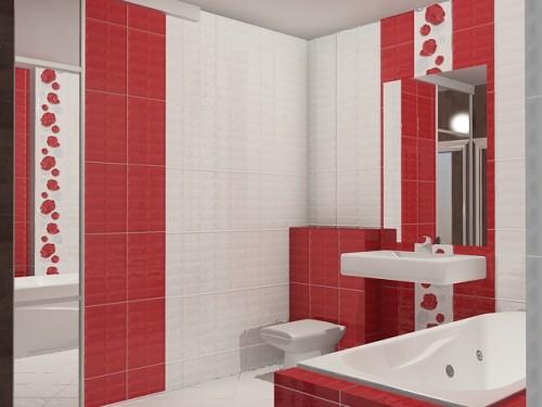 плитка в ванной дизайн