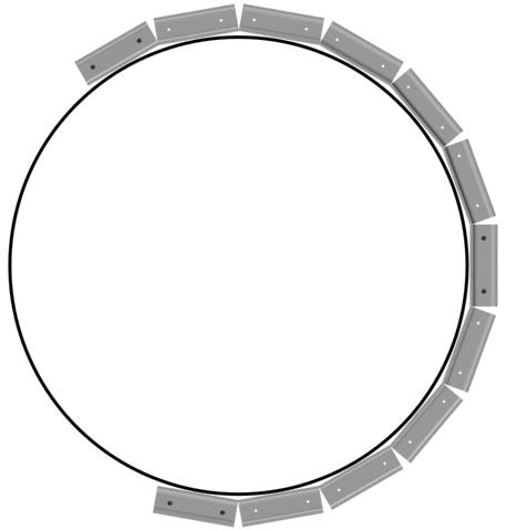Подрезка UD профиля для монтажа округлых поверхностей.
