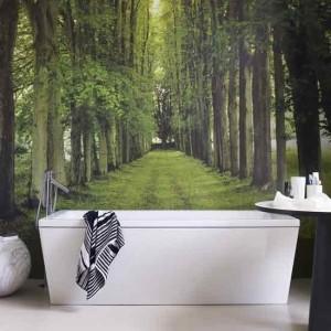 поклейка обоев в ванной
