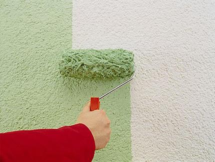 Покраска оштукатуренной стены