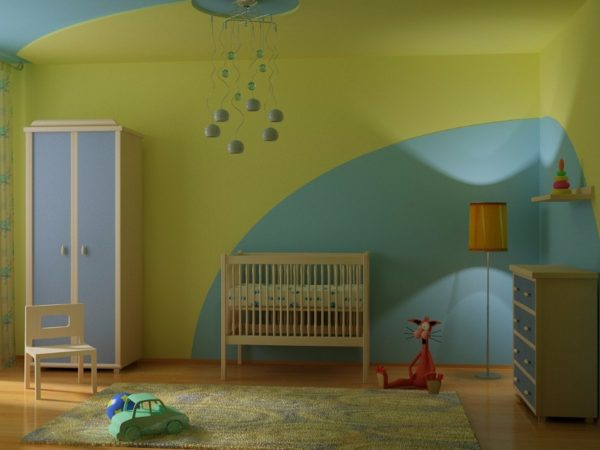 Покрытия на водной основе – это хорошее решение для детских комнат