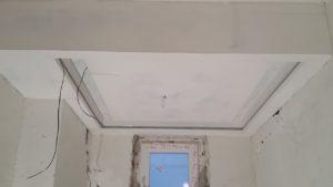 Потолок выровнен и зашкурен