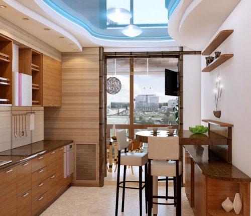Потрясающий дизайн кухни 10 кв м с балконом