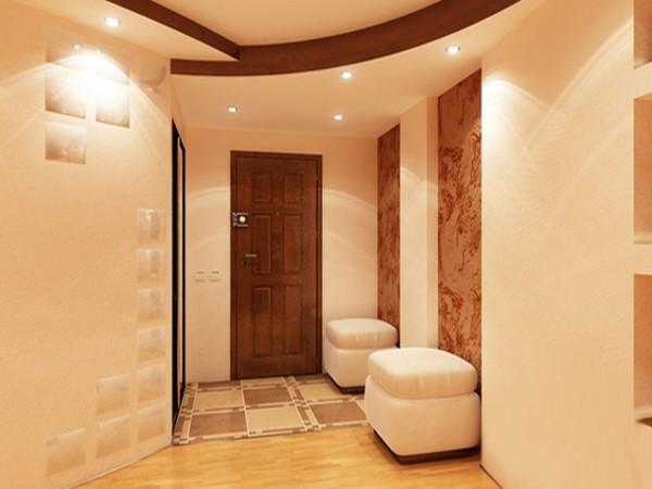 Правильно отремонтированная прихожая - светлая, удобная, облицованная практичными материалами.