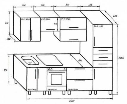 Пример дизайн-проекта кухни
