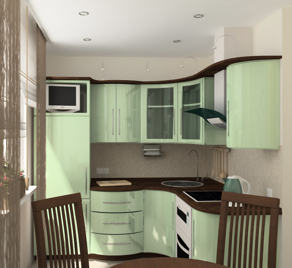 Пример дизайна кухни в «хрущевском» доме