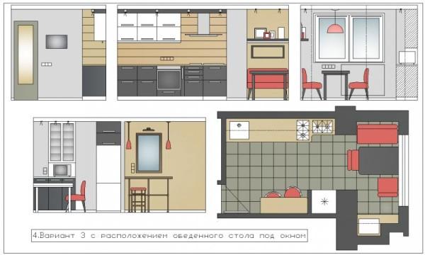 Пример грамотной планировки кухни