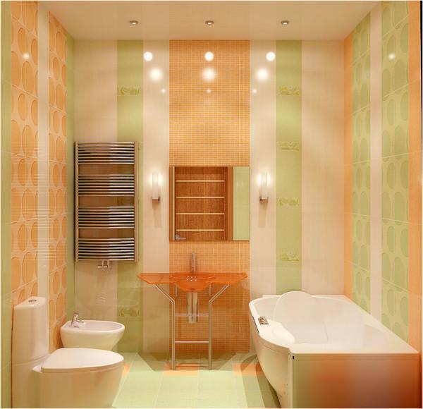Пример использования керамической плитки на стенах