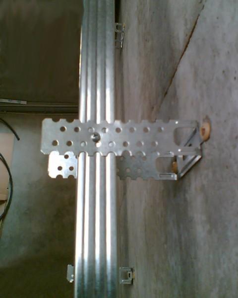 Пример крепления подвеса к стене
