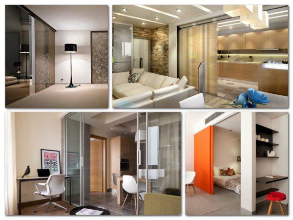 Пример того, как просто и красиво поделить комнату на две функциональные зоны